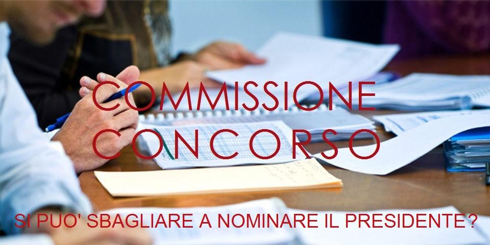 Commissione concorso Sbaglio